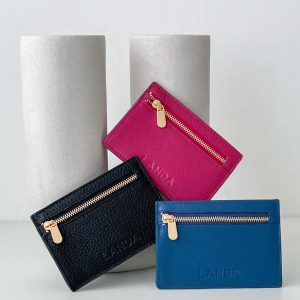 Card Holder with Coin Zipper